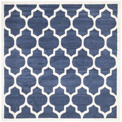Maritza Geometric Navy/Beige Indoor/Outdoor Area Rug Rug Size: Square 5