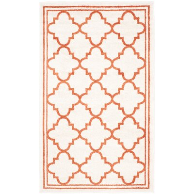 Currey Beige/Orange Indoor/Outdoor Area Rug Rug Size: Rectangle 26 x 4