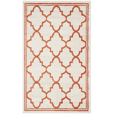 Currey Beige/Orange Indoor/Outdoor Area Rug Rug Size: Rectangle 4 x 6