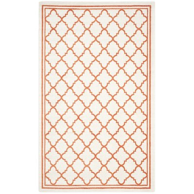 Currey Beige/Orange Indoor/Outdoor Area Rug Rug Size: Rectangle 5 x 8