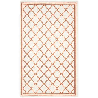 Currey Beige/Orange Indoor/Outdoor Area Rug Rug Size: 6 x 9