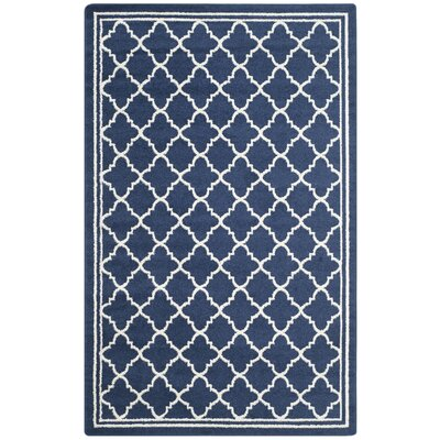 Currey Navy/Beige Indoor/Outdoor Area Rug Rug Size: 5 x 8