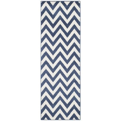 Currey Navy / Beige Area Rug Rug Size: Runner 23 x 9