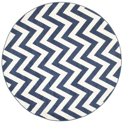 Currey Navy / Beige Area Rug Rug Size: Rectangle 26 x 4
