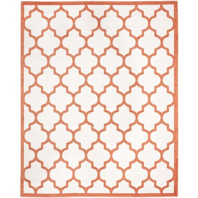 Currey Beige/Orange Indoor/Outdoor Area Rug Rug Size: Rectangle 9 x 12
