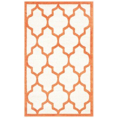 Currey Beige/Orange Indoor/Outdoor Area Rug Rug Size: 3 x 5