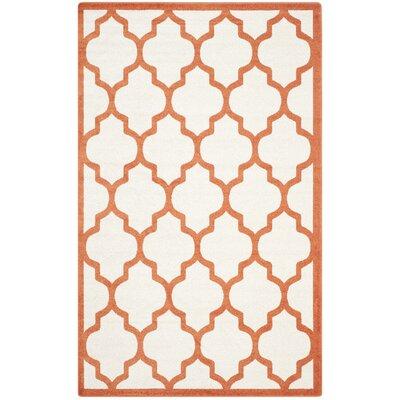 Currey Beige/Orange Indoor/Outdoor Area Rug Rug Size: 5 x 8