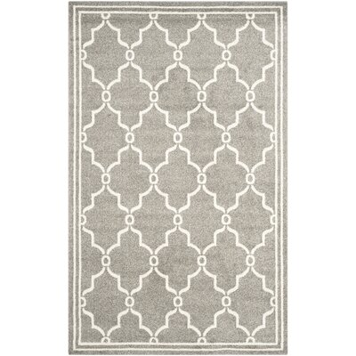 Maritza Geometric Dark Gray/Beige Indoor/Outdoor Area Rug Rug Size: 5 x 8