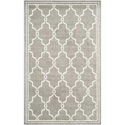 Maritza Geometric Dark Gray/Beige Indoor/Outdoor Area Rug Rug Size: 9 x 12