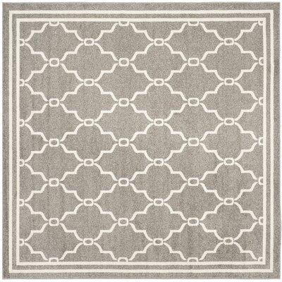 Maritza Geometric Dark Gray/Beige Indoor/Outdoor Area Rug Rug Size: Square 5