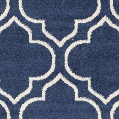 Maritza Navy / Ivory Indoor/Outdoor Area Rug Rug Size: 11 x 16