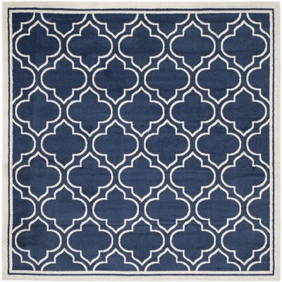 Maritza Navy / Ivory Indoor/Outdoor Area Rug Rug Size: Square 7