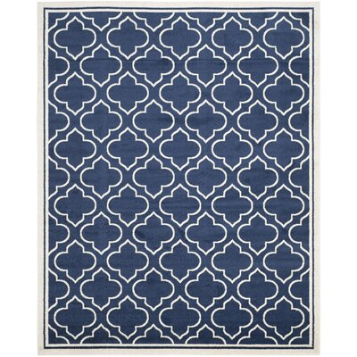 Currey Navy / Ivory Indoor/Outdoor Area Rug Rug Size: 9 x 12
