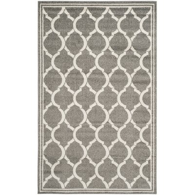 Maritza Dark Gray/Beige Indoor/Outdoor Area Rug Rug Size: Rectangle 5 x 8