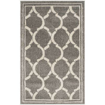 Maritza Dark Gray/Beige Indoor/Outdoor Area Rug Rug Size: 3 x 5