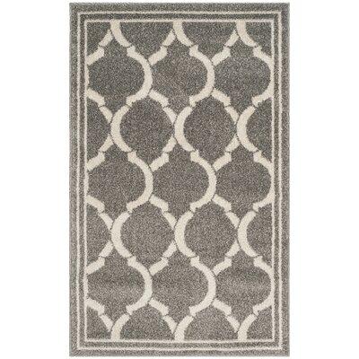 Maritza Dark Gray/Beige Indoor/Outdoor Area Rug Rug Size: 4 x 6