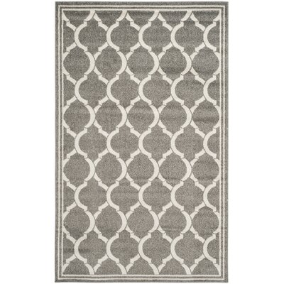 Maritza Dark Gray/Beige Indoor/Outdoor Area Rug Rug Size: 5 x 8