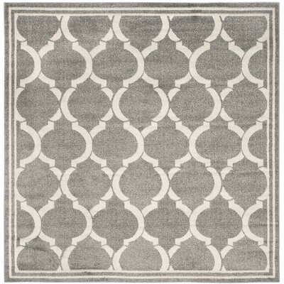 Maritza Dark Gray/Beige Indoor/Outdoor Area Rug Rug Size: Square 7
