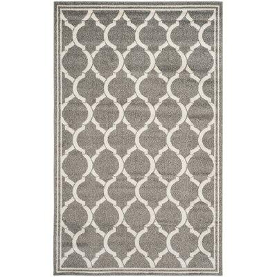 Maritza Dark Gray/Beige Indoor/Outdoor Area Rug Rug Size: 8 x 10