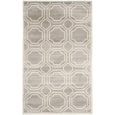 Maritza Geometric Light Gray/Ivory Indoor/Outdoor Area Rug Rug Size: 8 x 10