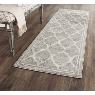 Maritza Gray/Light Gray Indoor/Outdoor Area Rug Rug Size: Runner 23 x 9