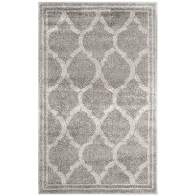 Maritza Gray/Light Gray Indoor/Outdoor Area Rug Rug Size: 4 x 6