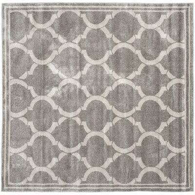 Maritza Gray/Light Gray Indoor/Outdoor Area Rug Rug Size: Square 7