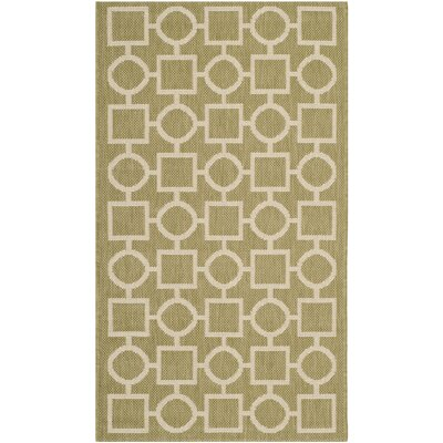 Olsene Green/Beige Indoor/Outdoor Area Rug Rug Size: 2 x 37