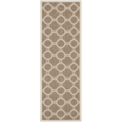 Olsene Brown/Bone Indoor/Outdoor Area Rug Rug Size: Runner 23 x 10