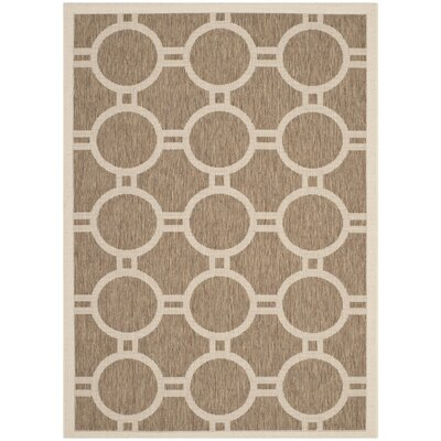 Olsene Brown/Bone Indoor/Outdoor Area Rug Rug Size: Rectangle 4 x 57