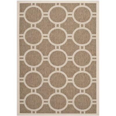 Olsene Brown/Bone Indoor/Outdoor Area Rug Rug Size: Rectangle 53 x 77