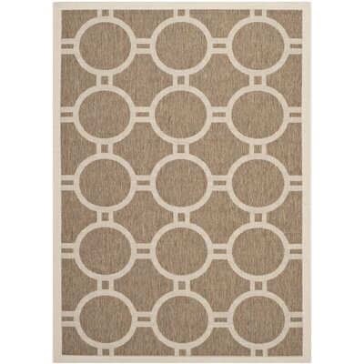 Olsene Brown/Bone Indoor/Outdoor Area Rug Rug Size: 9 x 12
