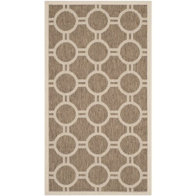 Olsene Brown/Bone Indoor/Outdoor Area Rug Rug Size: 2 x 37