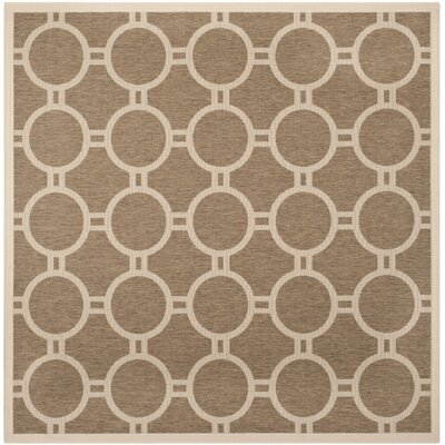 Olsene Brown/Bone Indoor/Outdoor Area Rug Rug Size: Square 710