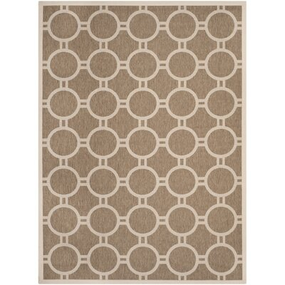 Olsene Brown/Bone Indoor/Outdoor Area Rug Rug Size: Rectangle 8 x 11
