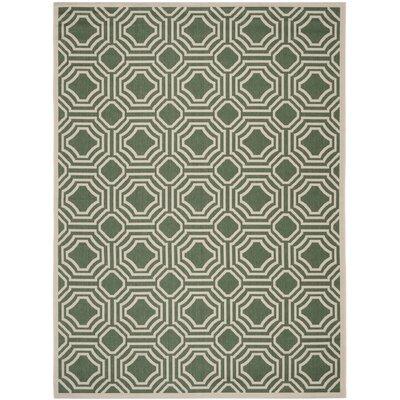 Olsene Dark Green/Beige Indoor/Outdoor Area Rug Rug Size: 8 x 11