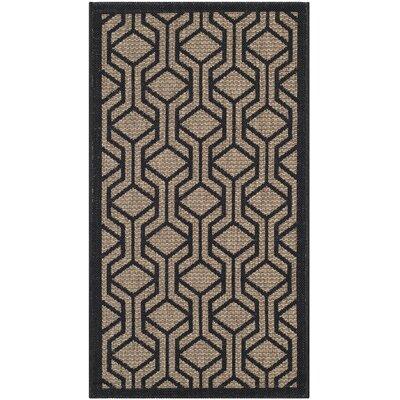 Olsene Brown/Black Indoor/Outdoor Area Rug Rug Size: 2 x 37