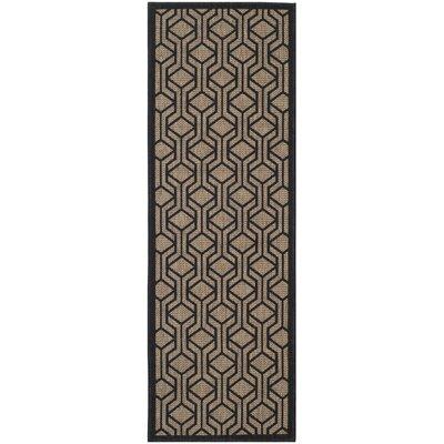 Olsene Brown/Black Indoor/Outdoor Area Rug Rug Size: Runner 23 x 67