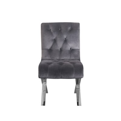 Eton Dining Chair Upholstery Color: Silver