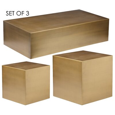 Rooney 3 Piece Coffee Table Set