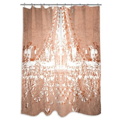 'Dramatic Entrance Rose' Shower Curtain