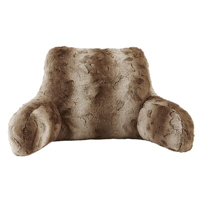 West Oak Lane Faux Fur Backrest Color: Tan