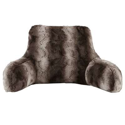 Fleetwood Faux Fur Backrest Color: Chocolate