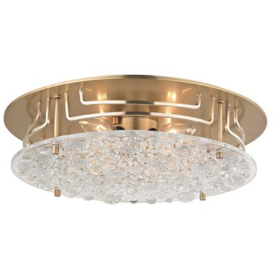 Carterton 4-Light Semi Flush Finish: Aged Brass