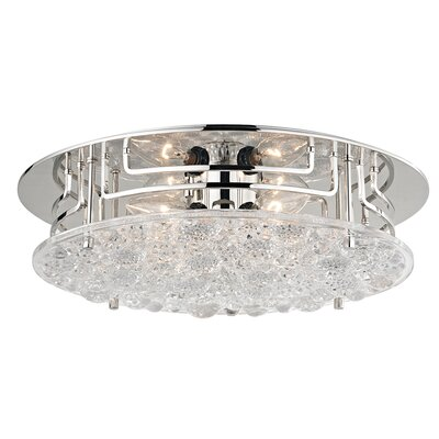 Carterton 4-Light Semi Flush Finish: Polished Nickel
