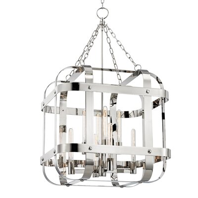 Ellaine 8-Light Foyer Pendant Finish: Polished Nickel