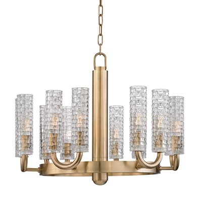 Ellayne 12-Light Shaded Chandelier Finish: Aged Brass
