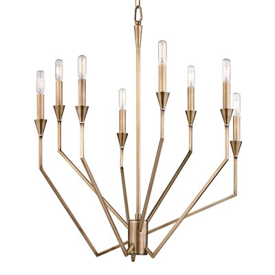 Ellinor 8-Light Candle-Style Chandelier Finish: Old Bronze