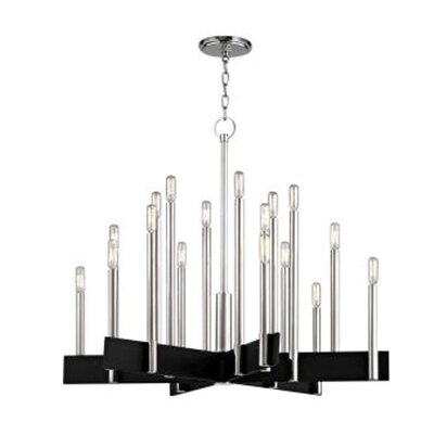 Eloisee 18-Light Candle-Style Chandelier Finish: Polished Nickel