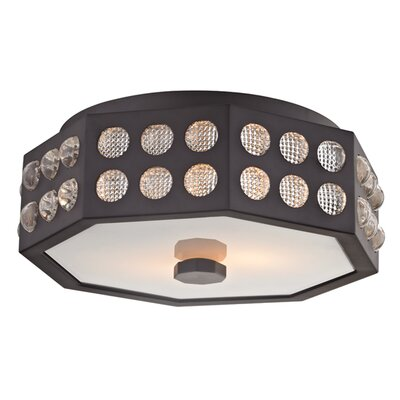 Emeraude 2-Light Semi Flush Finish: Old Bronze